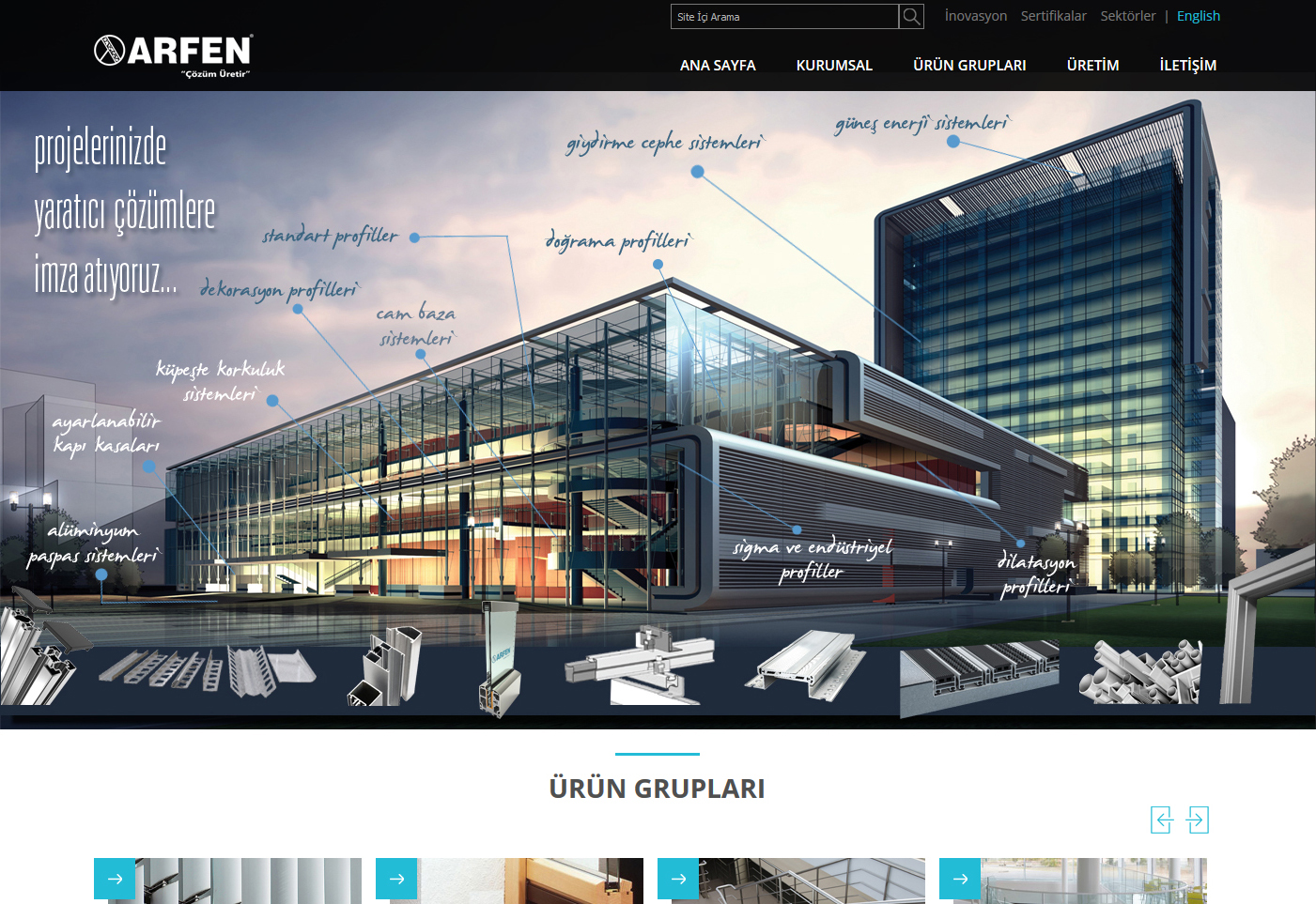 ARFEN ALUMINUM WEB SITE IS ONLINE IT'S NEW FACE