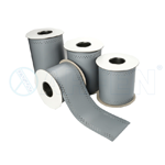 It is an HYDROFLEX TPE dilatation tape that is used in the insulation of expansion joint gaps, large cracks, thermal gaps on every typeof buildings.